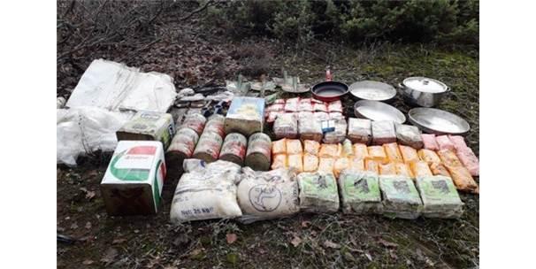 Teröristlerin Bidonlarla Gömülü Gıdaları Ele Geçirildi