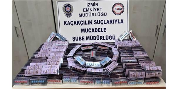İzmir'de Kaçak Hap Operasyonu