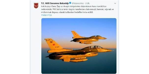 Irak Kuzeyinde Pkk Hedefleri İmha Edildi