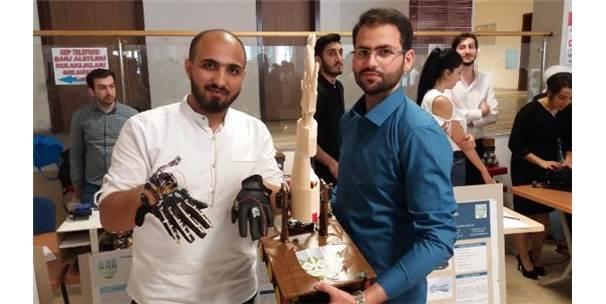 Suriyeli 2 Üniversitelinin 'Robotik Yürüyen El' Projesi İlgi Gördü