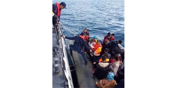 Enez'de, Lastik Botta 35 Kaçak Yakalandı