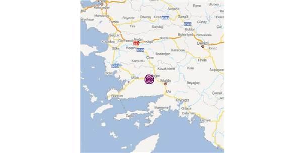 Muğla'da 3.9 Büyüklüğünde Deprem