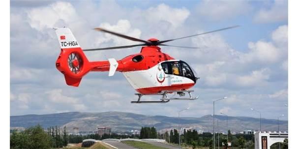 Ambulans Helikopter Böbrek Hastası İçin Havalandı
