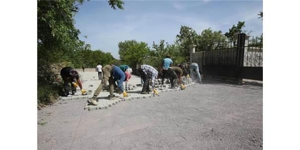 Hacılar'da Parke Çalışması