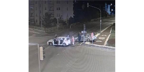 Sivas'ta 10 Kişinin Yaralandığı Kaza Kamerada