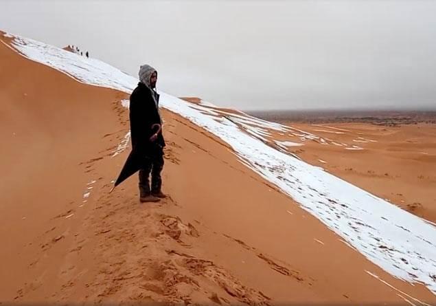 Sahra Çölü'ne neden kar yağdı?