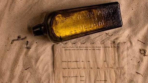 Dünyanın en eski şişe mesajı 132 yaşında