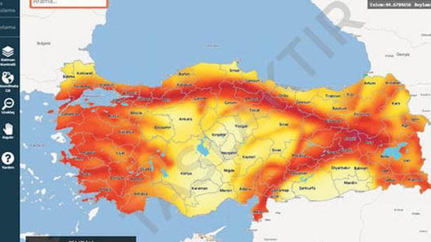 Güncellenen deprem riski haritasında hangi bilgiler yer alıyor?