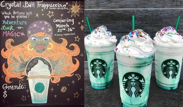 Starbucks'ın fal bakan sınırlı sayıdaki yeni içeceği Kristal Küre Frappuccino