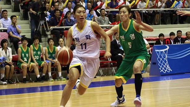 Kuzey Kore ve Güney Koreli basketçilerden 'karma' maç