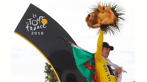 Fransa Bisiklet Turu'nda şampiyon Geraint Thomas