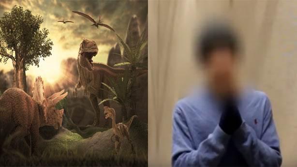 Zamanda yolculuk yaparak dinozorları gördüğünü iddia etti