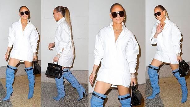Jennifer Lopez'in 'bot pantolon'u olay oldu