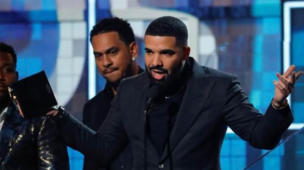 Rap'çiye 'çok konuşma' demek: Grammy'de Drake'in konuşması kesildi