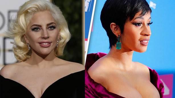 Cardi'ler, Gaga'lar birbirini ağırlar: Grammy ve Oscar dayanışması
