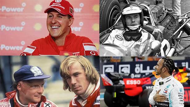 F1 tarihine damga vuran 9 pilot