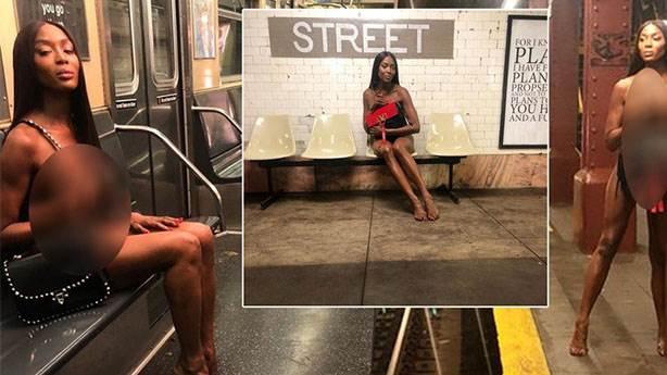 Naomi Campbell metroda çıplak poz vermeyi nasıl kabul etti?