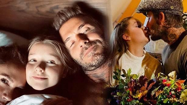 David Beckham neden kızını dudağından öptü?