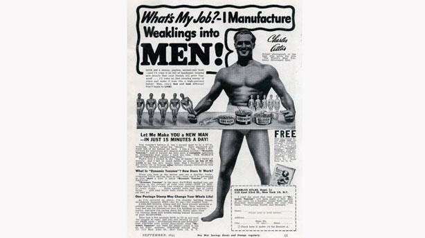 8. Vücut geliştirmeci Charles Atlas Dönemi (1930'lar ve 1940'lar)