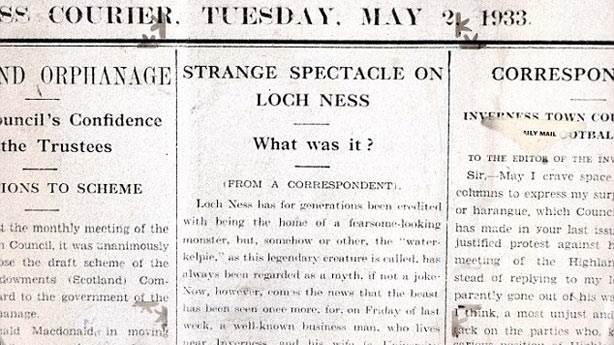 2. Modern çağda ilk Loch Ness Canavarı vakası 1933'te