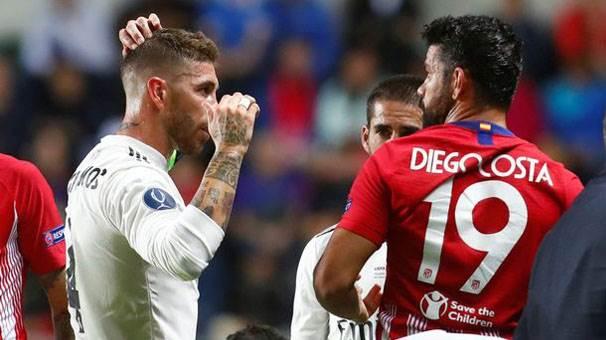 Sergio Ramos Atletico'ya bir şekilde gol atıyor