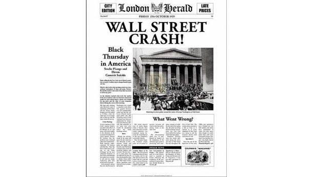 5. 1929 Wall Street iflası