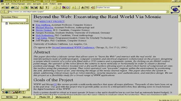 2- İlk web tarayıcısı