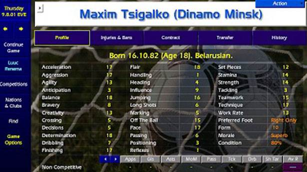 1- Maxim Tsigalko