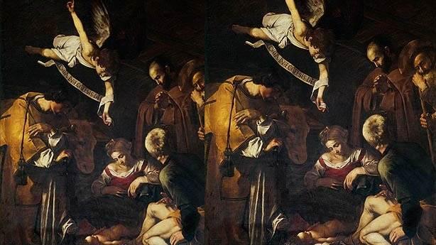 2- Caravaggio'nun eseri: Aziz Francis ve St. Lawrence ile Doğuş