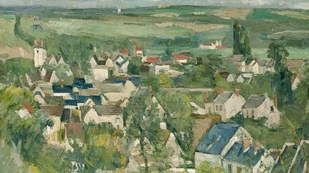 3- Paul Cézanne'in eseri: View of Auvers-sur-Oise