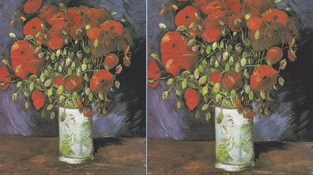 5- Vincent van Gogh'un eseri: Gelincikler (Vase with Poppies)