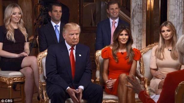 Aynı babası gibi Trump'ın da beş çocuğu var