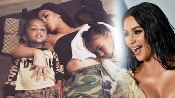 Çocuklara Kourtney Kardashian sahip çıkıyor