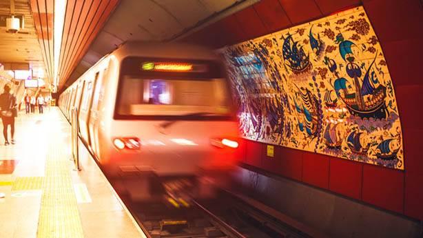 6- Metroistasyonuna iner inmez metronun gelmesi