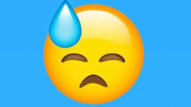 Soğuk terler d&ouml;ken emoji<br /> &nbsp;
