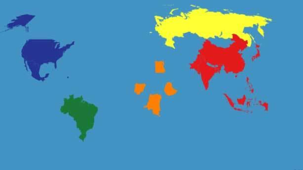 100 milyon altı nüfuslu ülkeler silinseydi