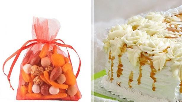 1- Bayat kuruyemiş ve pasta