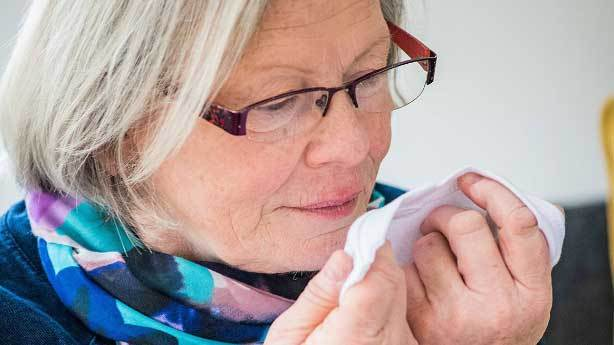 Parkinson hastalığının kokusunu alan kadın
