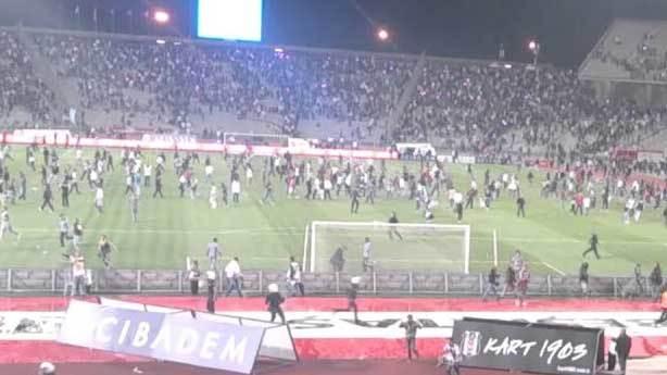 Beşiktaşlıların sahaya girdiği maç