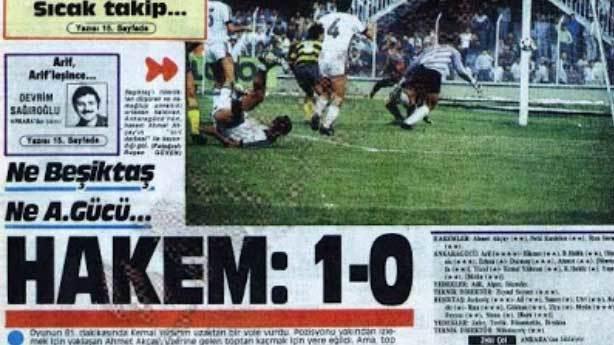 Hakemin Beşiktaş'a attığı gol