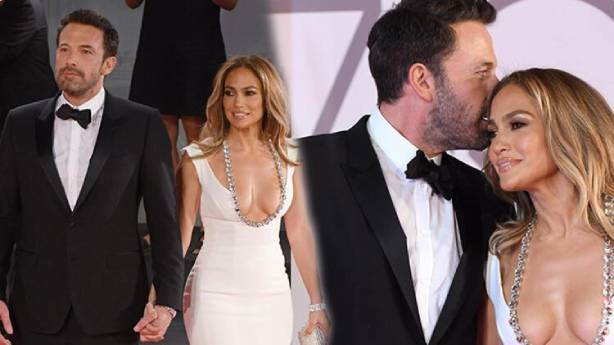 Jennifer Lopez ve Ben Affleck'ten sevgi gösterisi