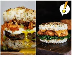 Köfte-Pilav ikilisine rakip Pirinç Burger! Görseller açlık uyandırabilir!
