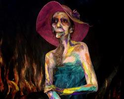 Cemal Süreya'nın yüzü olmayan kızı canlı tablo oldu