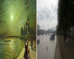 Ünlü tablolardaki mekanları gidip yerinde fotoğraflıyor