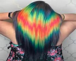 Saçlarda yeni bahar modası: Gökkuşağı