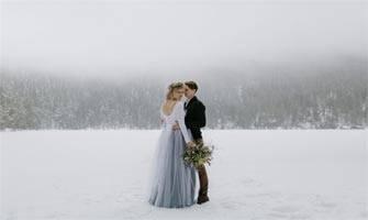 """""""Böyle düğün olur mu hiç?"""" dedirtecek kış düğünü!"""