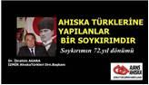 Ahıska Türklerine yapılanlar bir soykırımdır