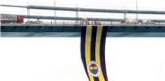 Köprüye şampiyonluk bayrağı