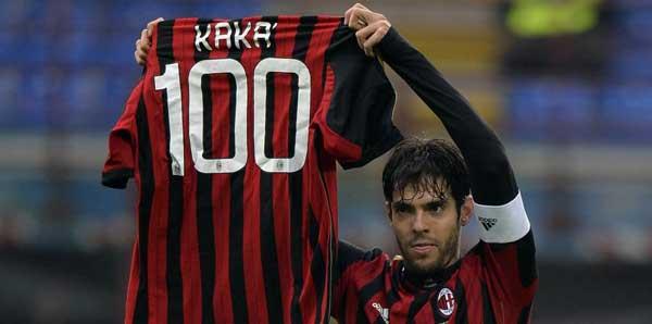Kaka, Milan'daki 100. golünü attı