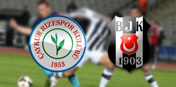 Beşiktaş rahat çıktığı maçta Çaykur Rize ile 0-0 berabere kaldı
